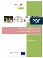 Wage structure in garment industry