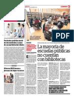 La Mayoría de Escuelas Públicas No Cuentan Con Bibliotecas