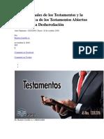 Reglas Formales de Los Testamentos y La Característica de Los Testamentos Abiertos Referidos a La Desheredació1