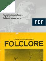Revista Brasileira de folclore N°04 - Setembro a Dezembro de 1962