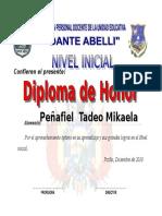 Diploma de Honor 8
