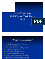 Lake Wilderness Golf Course Task Force
