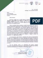 Nota Embajada de Ecuador sobre artículo pesca ilegal