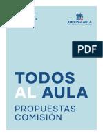 Propuestas Todos Al Aula, Propuestas de Comisión Asesora Presidencial 2018