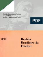 Revista do folclore N°08 - Janeiro a Dezembro de 1964