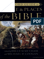 METZGER, Bruce M. & COOGAN, Michael D., Eds. (2001), The Oxford Guide to People & Places of the Bible. Oxford University Press