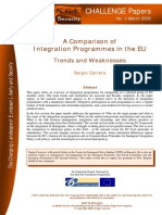 A Comparison of Integration Programes in EU