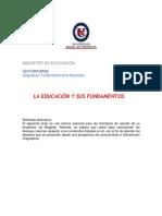 Unidad 1 La Educación y Sus Fundamentos