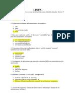 Linux Cuestionario