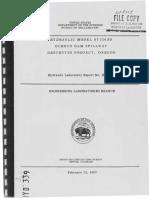 HYD-339 HYDRAULIC MODEL STUDIES