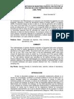 Comparacion de Metodos Puntos y Transectos