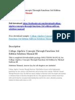 Algebra And Trigonometry 6th Edition Blitzer Test Bank Wildfire