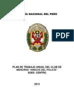 Plan de Trabajo II.ee. Club de Menores