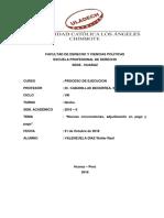 Nuevas Convocatorias, Adjudicacion en Pago y Pago