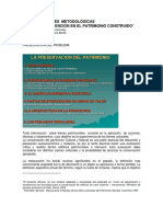 Consideraciones Metodológicas Para La Intervención en El Patrimonio Construido. Alejandro Novacovsky