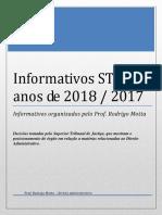 Informativos e Súmulas STJ Com Capa - 2018 2017 - Direito Administrativo