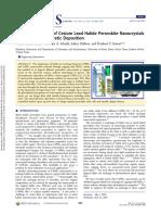 lead halide perovskite nanocristals
