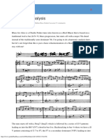 Bird Blues Analysis · Joe Hubbard Bass