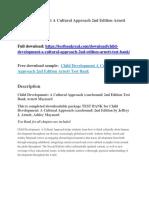 Child Development a Cultural Approach 2nd Edition Arnett Test Bank