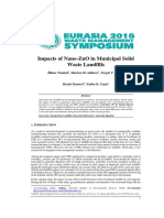 Impacts of Nano-ZnO in Municipal Solid