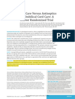 Dry Care Versus Antiseptics for Umbilical Cord Care a Cluster Randomized Trial 2017