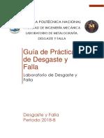 Guia de prácticas del laboratorio de Desgaste y Falla EPN