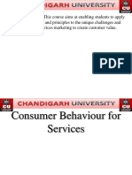 Consumer Behavior for Services
