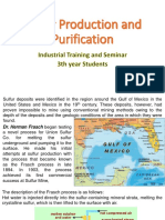 Sulfur Production and Purification