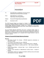 Revised 2019 Budget Balancing Worksheet - City of Evanston
