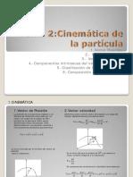 Tema 2 Cinematica de La Particula