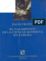 Rossi Paolo - El Nacimiento de La Ciencia Moderna en Europa