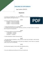 Regulamento Campeonato de Ortografia
