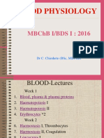 Blood Physiology - MBChB I 2016 (1)