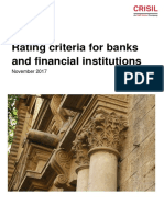 Rating Criteria for Banks and Financial Institutions