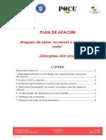 Plan de afaceri - Magazin de piese, accesorii si echipamente moto