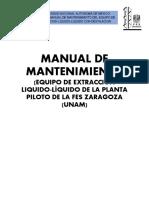 Manual de Mantenimiento Extraccion Piloto
