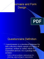 Questionnaire and Form Design