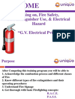 Fire Safety & Electrical Training 26-09-2016