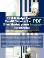 Víctor Zapata, Ana Vargas, Luis Irausquín - POLO Ralph Lauren, Cavalli, Versace, Lacroix y Blue Marine Ponen de Moda Tus Paredes
