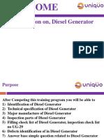 UG-29 Diesel Generator