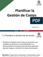 Planificar La Gestión de Costos