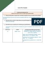 Lesson Plan Prepostions