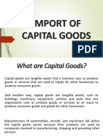 Import of Capital Goods
