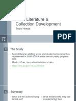howse- math literature   collection development