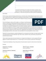 Martinez Coalition Letter