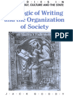 (Studies in Literacy Family Culture and the State.) Jack Goody-The Logic of Writing and the Organization of Society-Cambridge University Press (1986)