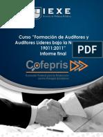 Formato de Reporte Final Formacion de Auditores ISO 19011