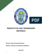 Proyecto de Una Transmicion Mecanica
