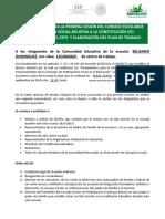 Convocatoria Primera Sesion 2018-2019
