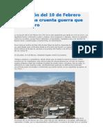 Revolución Del 10 de Febrero Fue La Más Cruenta Guerra Que Vivió Oruro